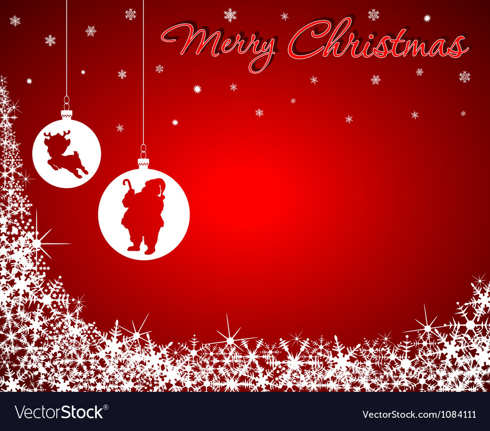 Christmas background with santa baby reindeer vector | Price: 1 Credit (USD $1)