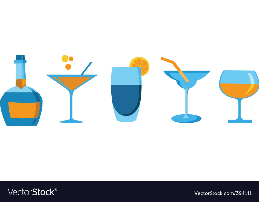 Cocktails and drinks vector | Price: 1 Credit (USD $1)