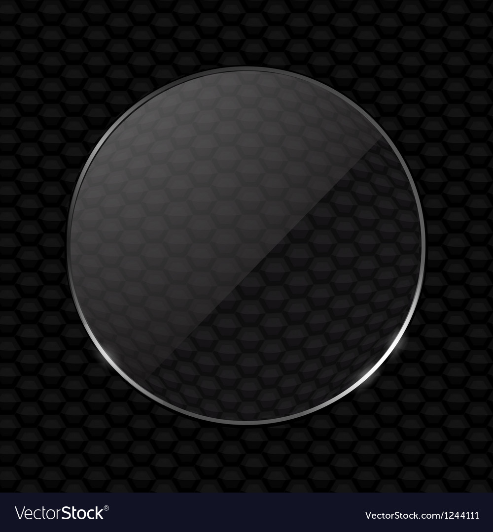 Glass lens on black honeycomb background vector | Price: 1 Credit (USD $1)