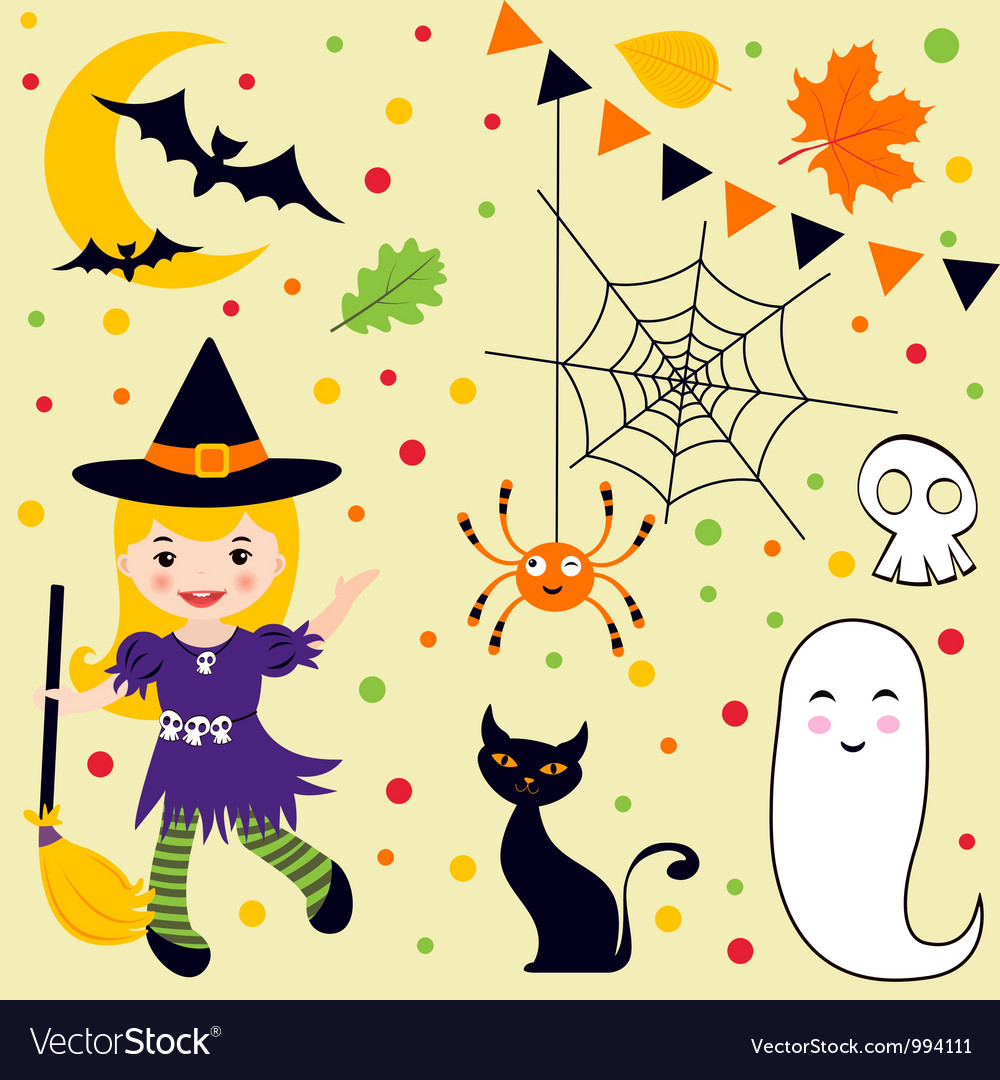 Halloween fun set vector | Price: 3 Credit (USD $3)