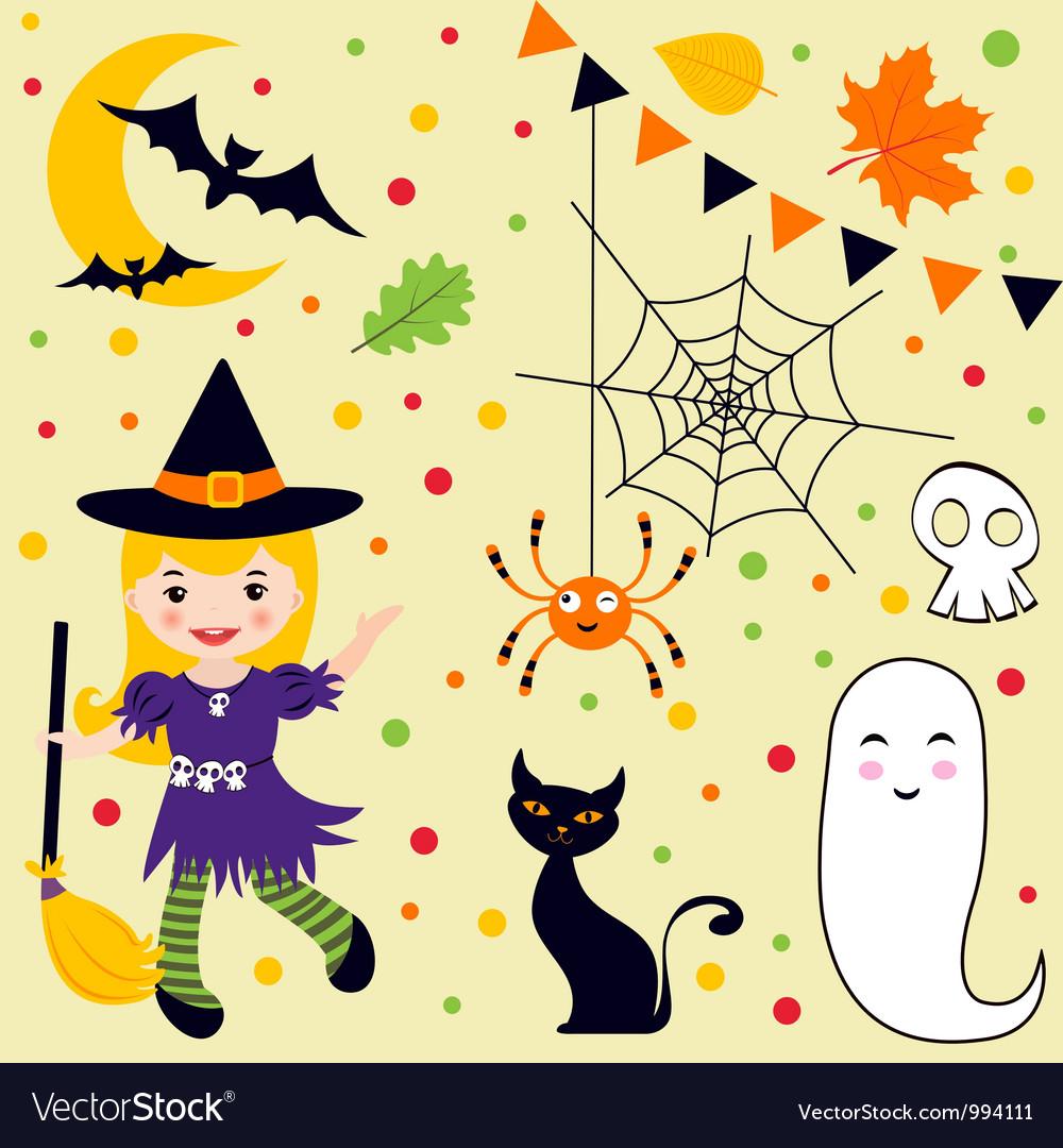 Halloween fun set vector | Price: 3 Credit (USD $3)