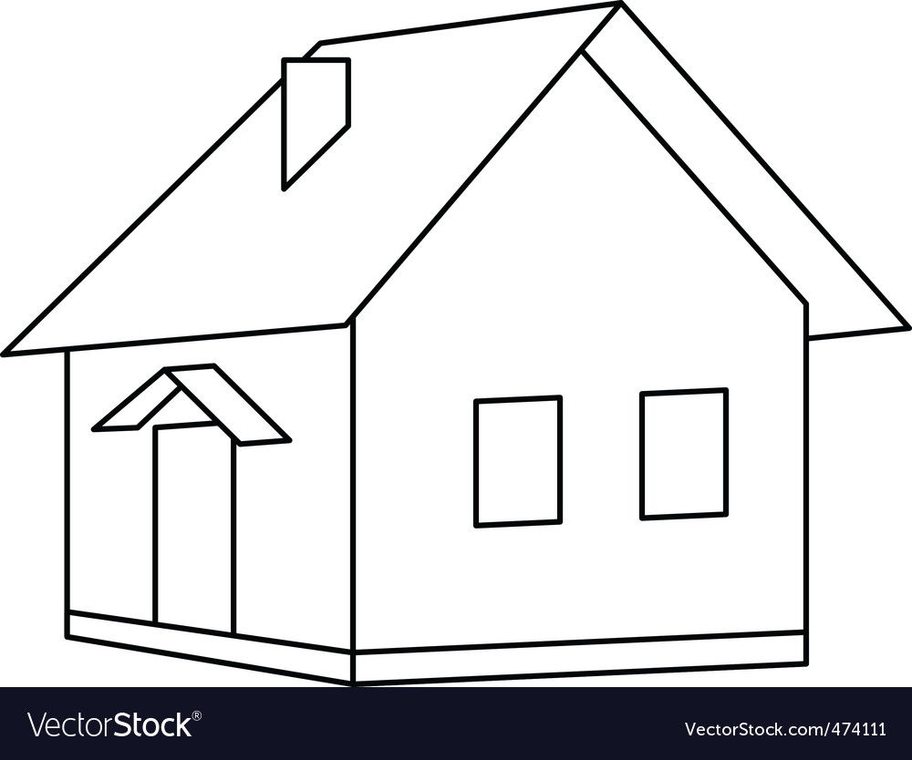 House landscape vector | Price: 1 Credit (USD $1)