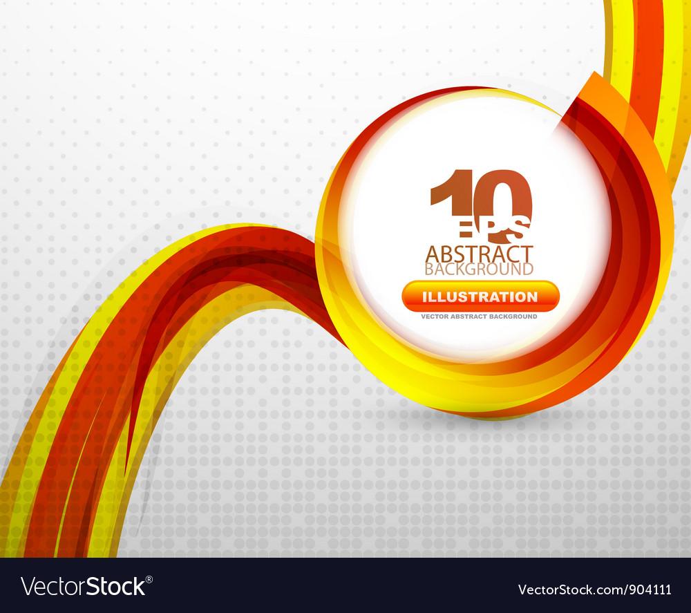 Orange wave background vector | Price: 1 Credit (USD $1)