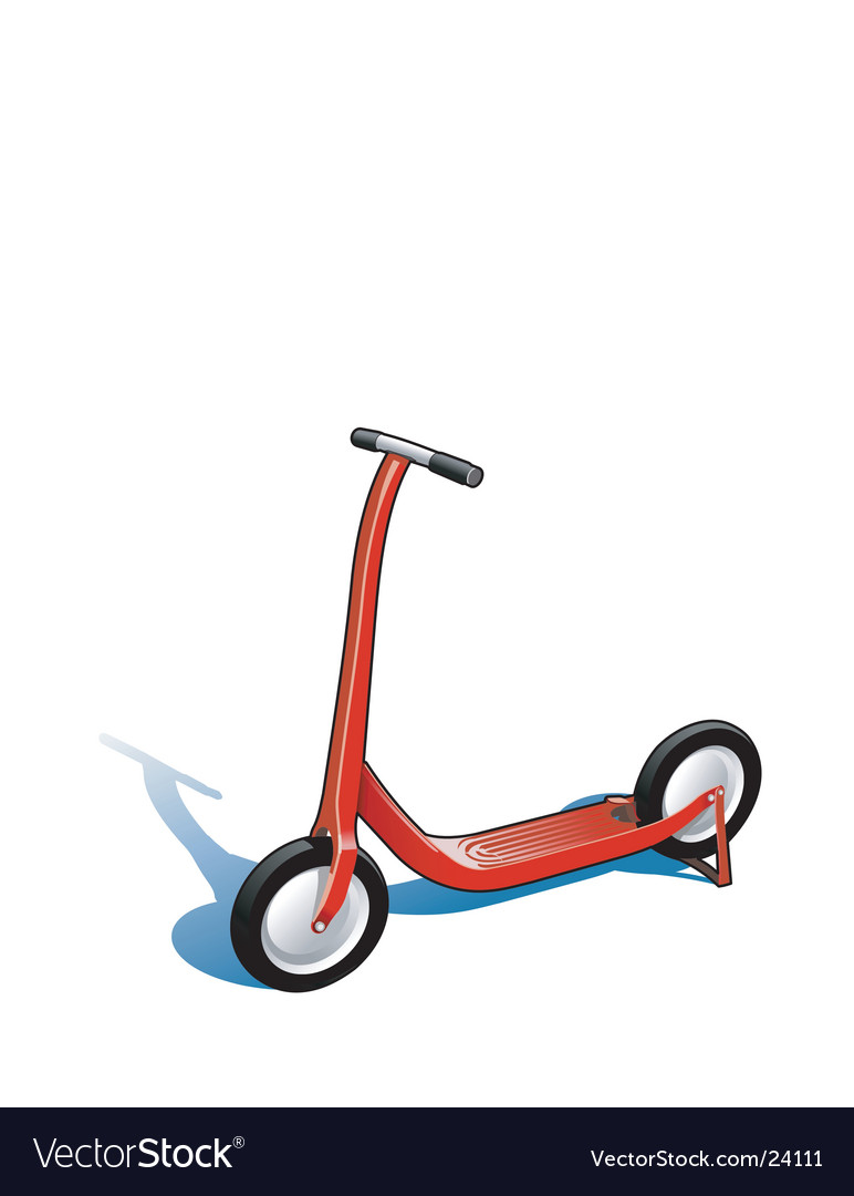 Red scooter vector | Price: 1 Credit (USD $1)