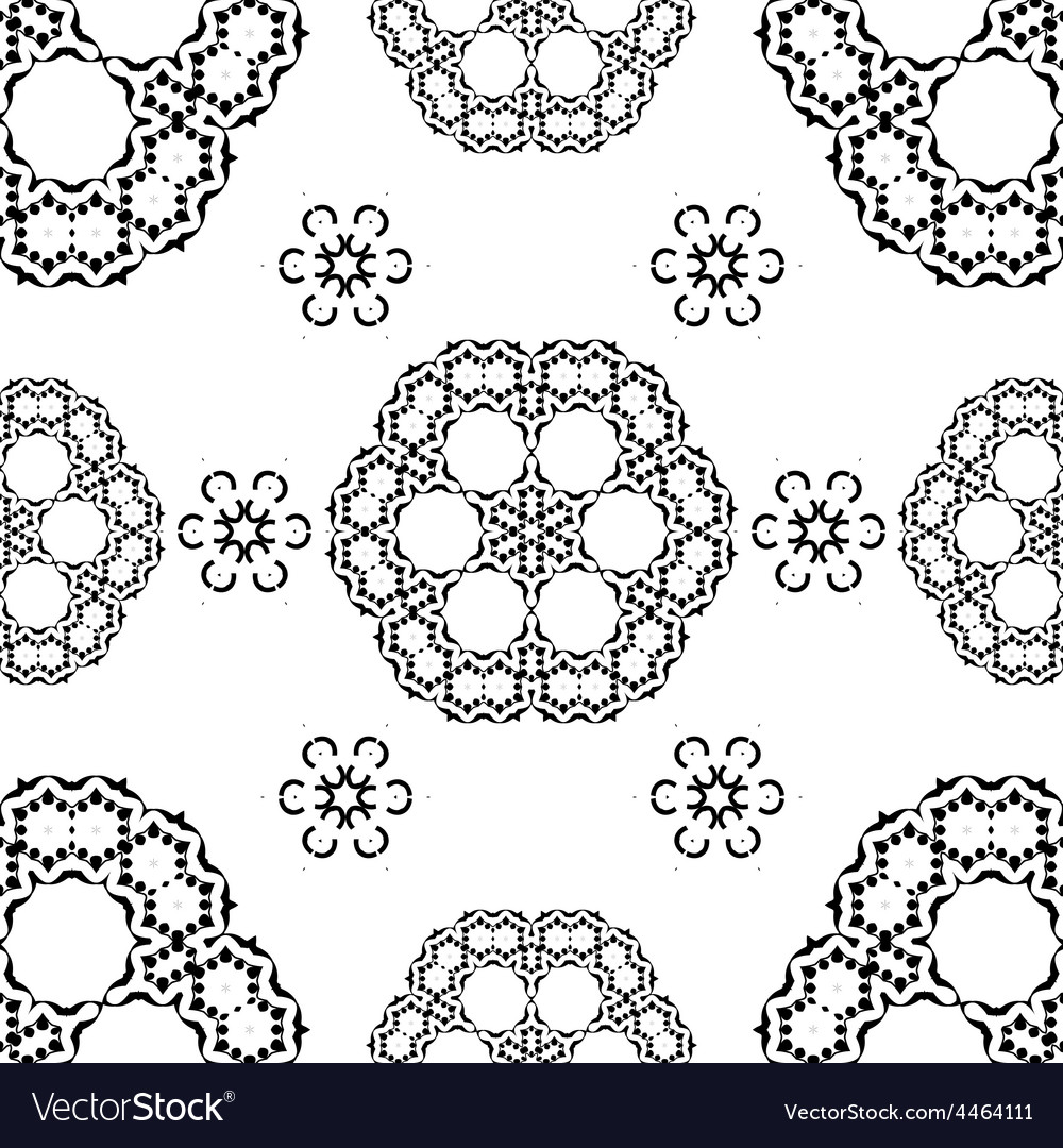 Seamless white and black traditional vector | Price: 1 Credit (USD $1)