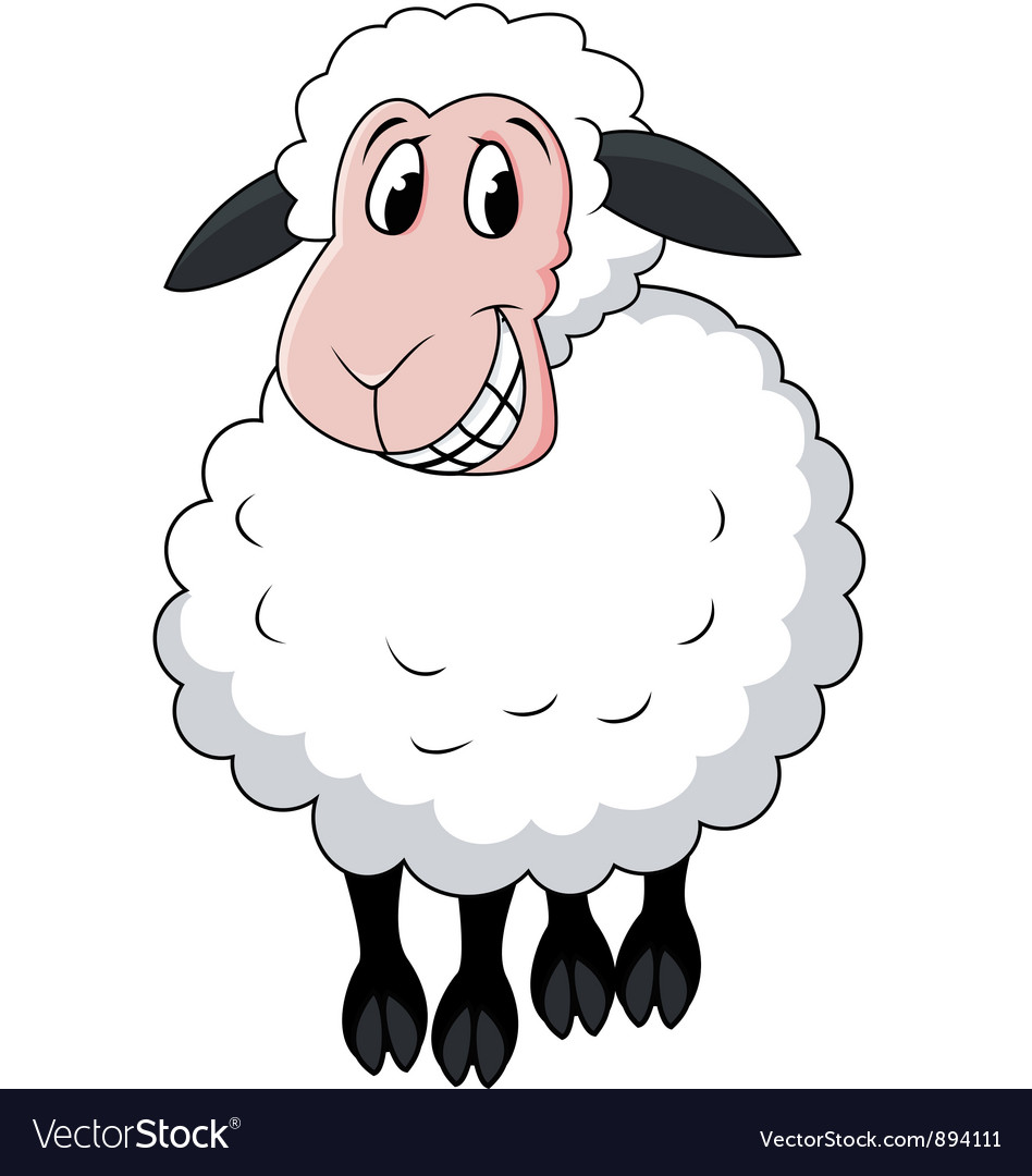 Sheep cartoon vector | Price: 3 Credit (USD $3)