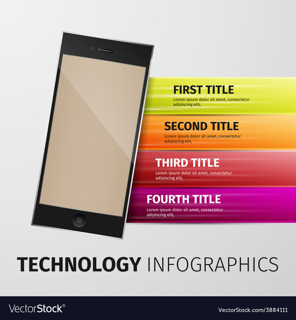 Technology infographics vector | Price: 1 Credit (USD $1)