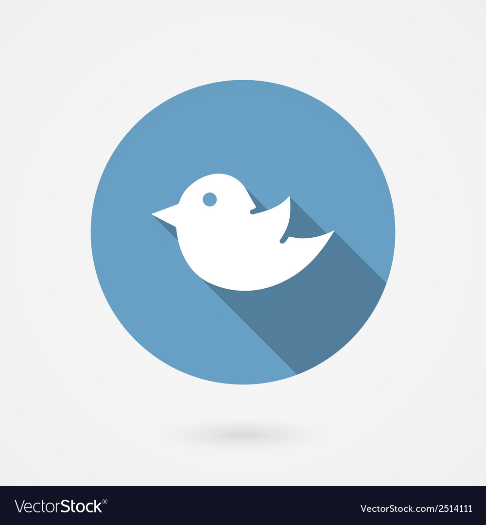 Twitter bird social media icon vector | Price: 1 Credit (USD $1)