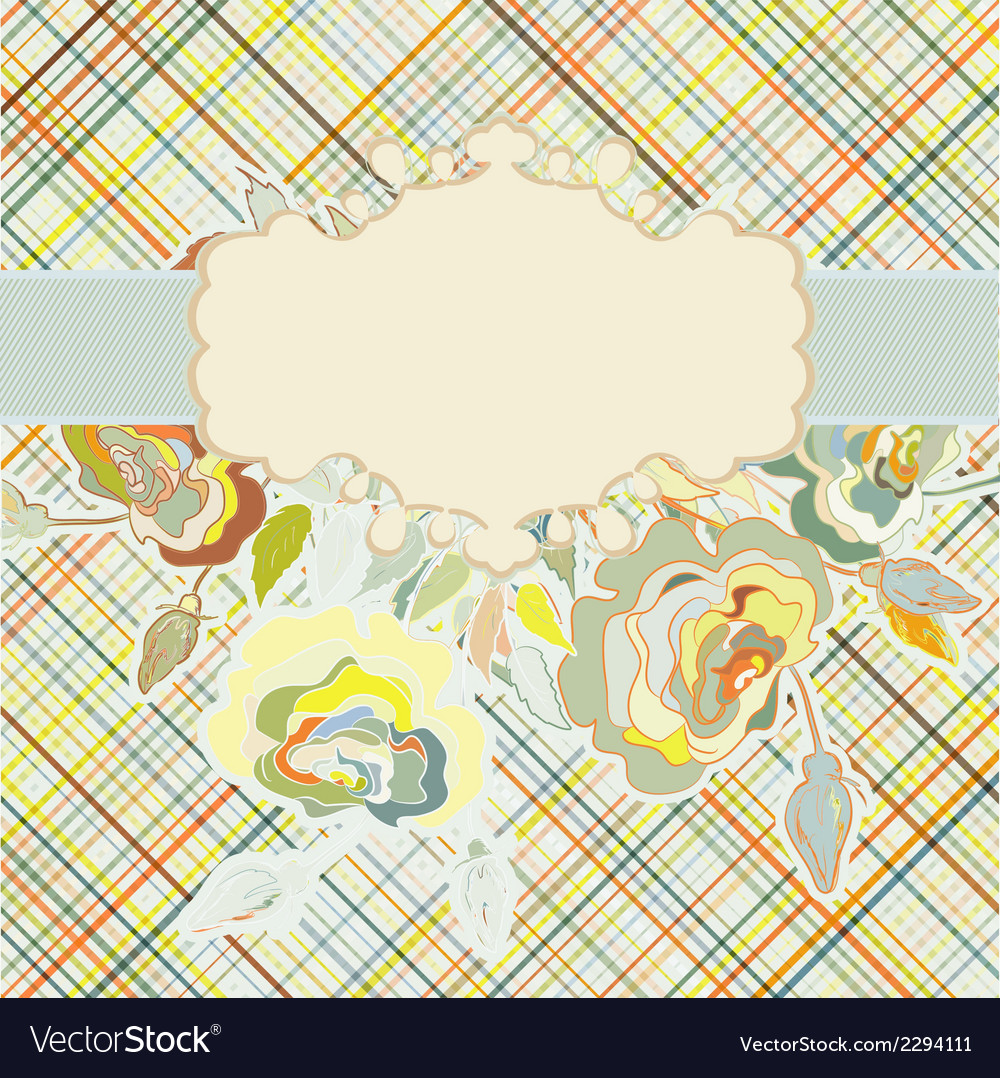 Vintage floral background eps 8 vector | Price: 1 Credit (USD $1)