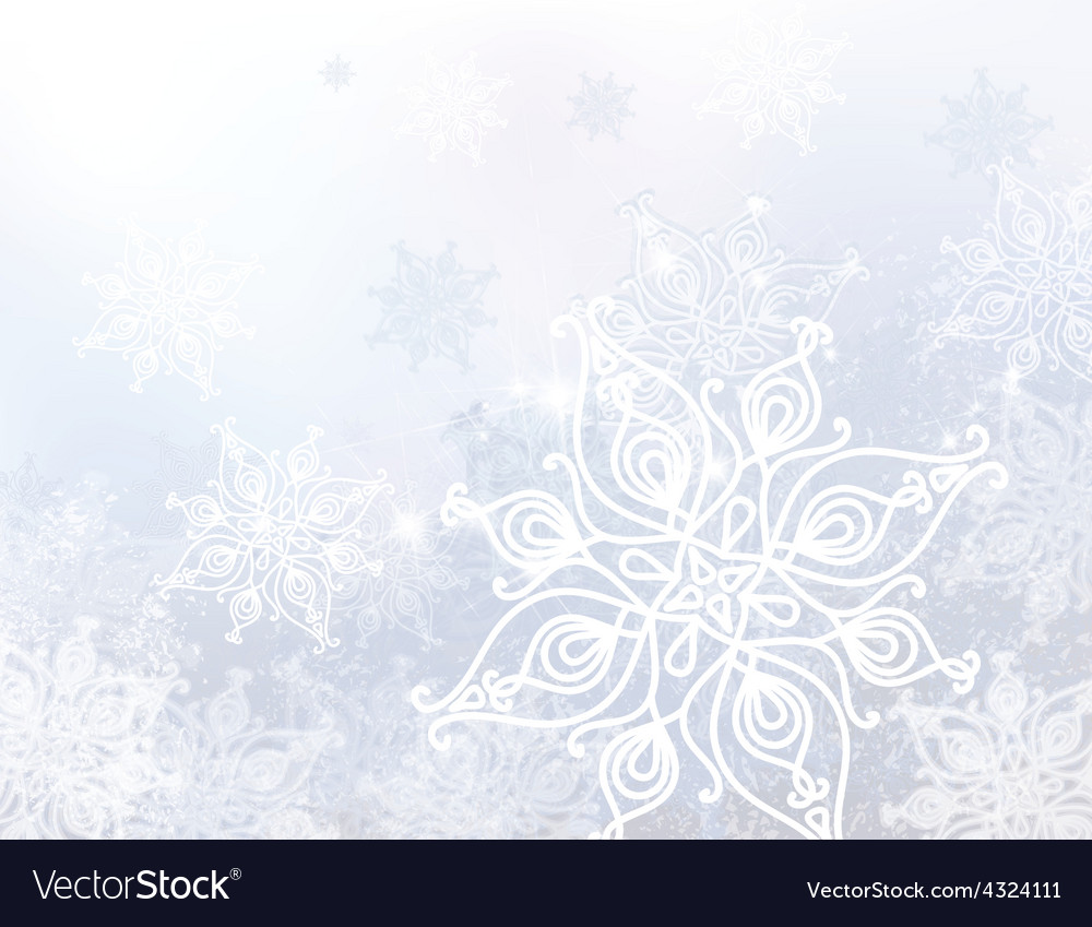 White snowflake background vector | Price: 1 Credit (USD $1)