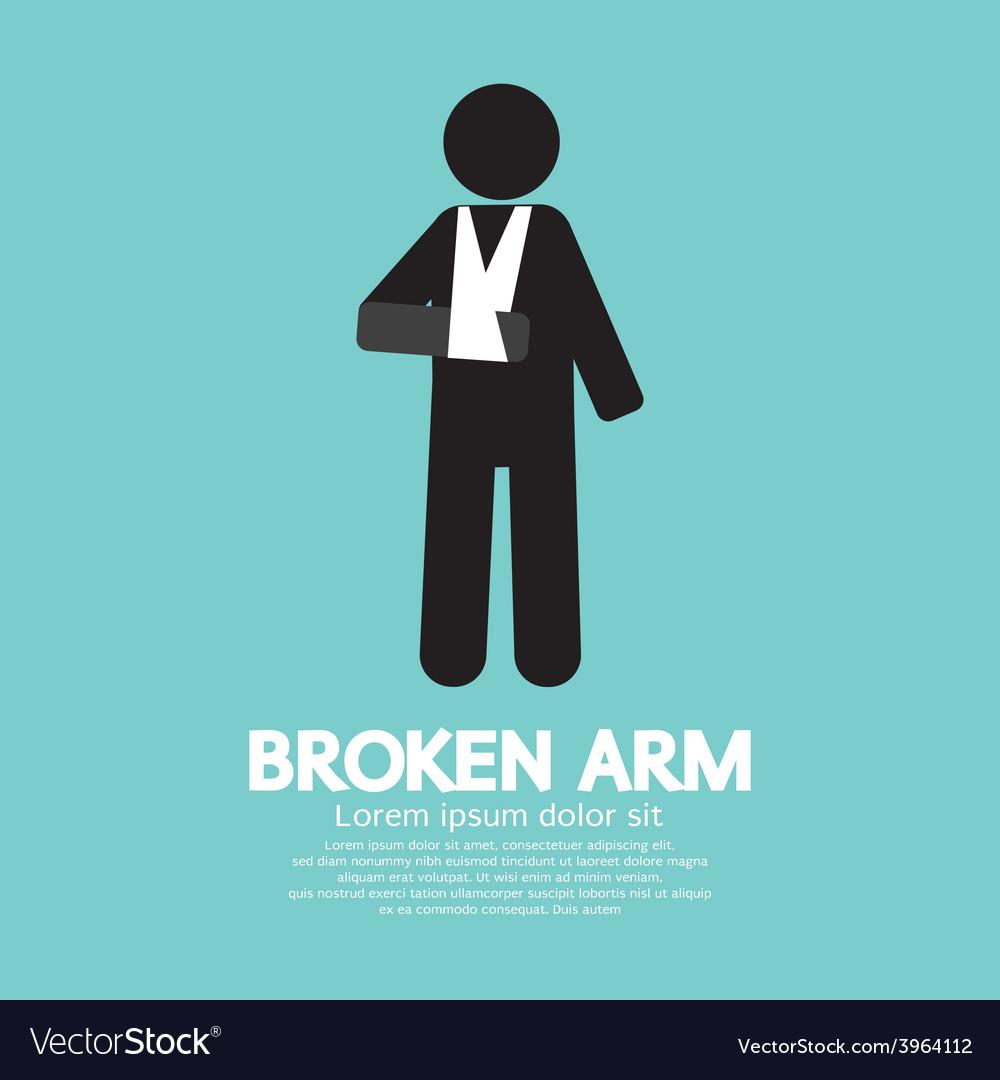 Broken arm graphic symbol vector   Price: 1 Credit (USD $1)