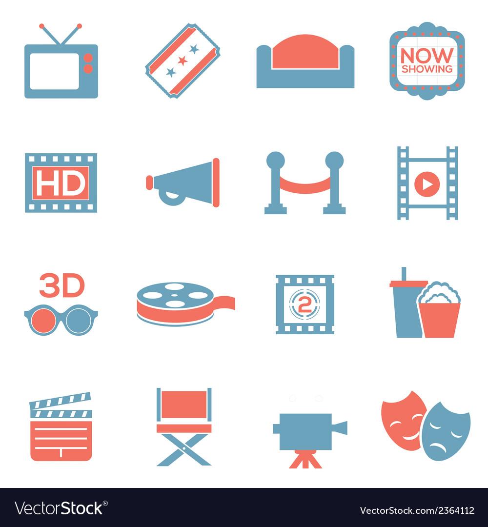 Cinema icons duotone vector | Price: 1 Credit (USD $1)