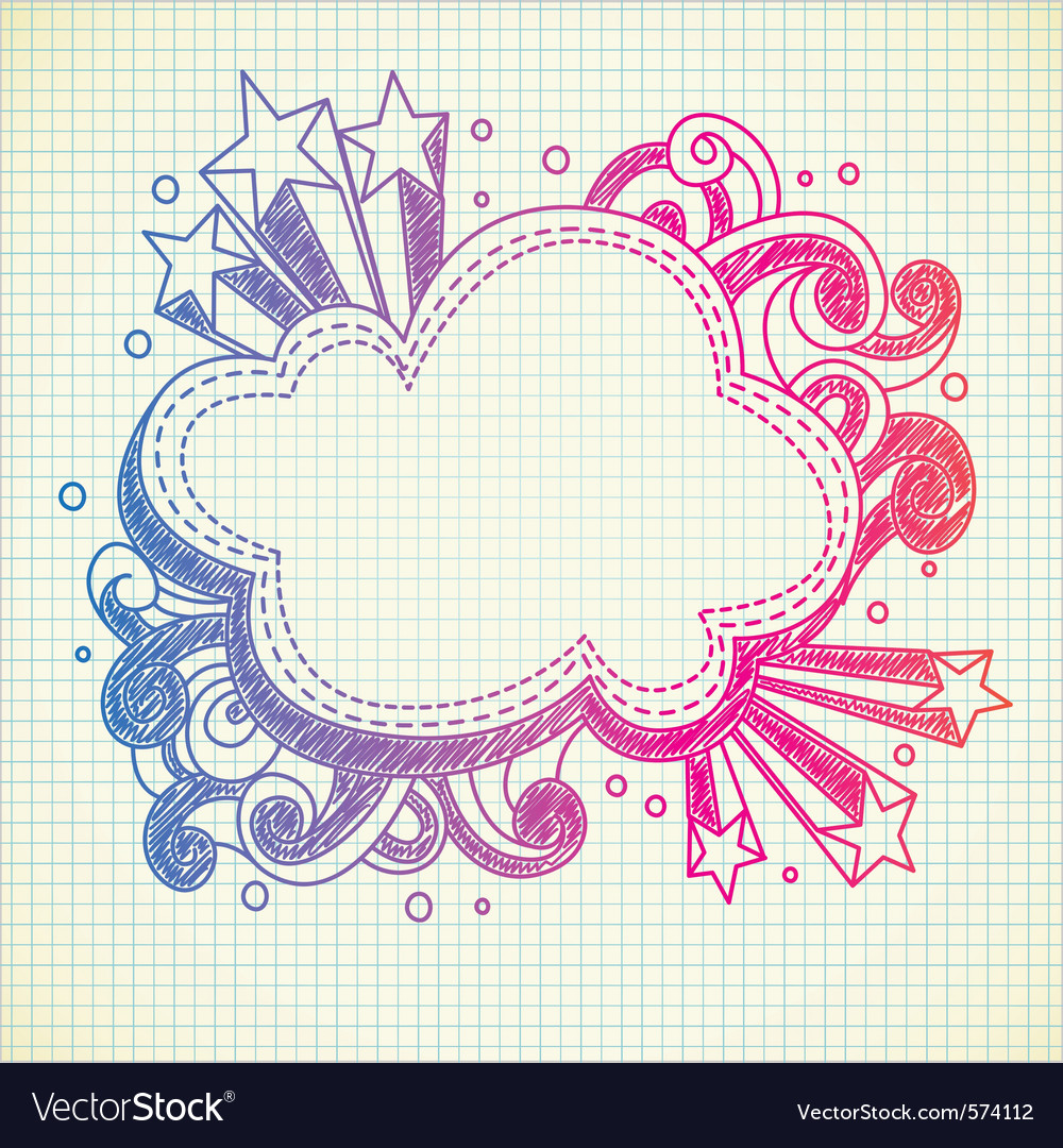 Cloud doodle vector | Price: 1 Credit (USD $1)