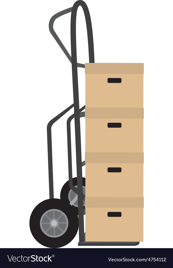 Hand truck with boxes vector | Price: 1 Credit (USD $1)
