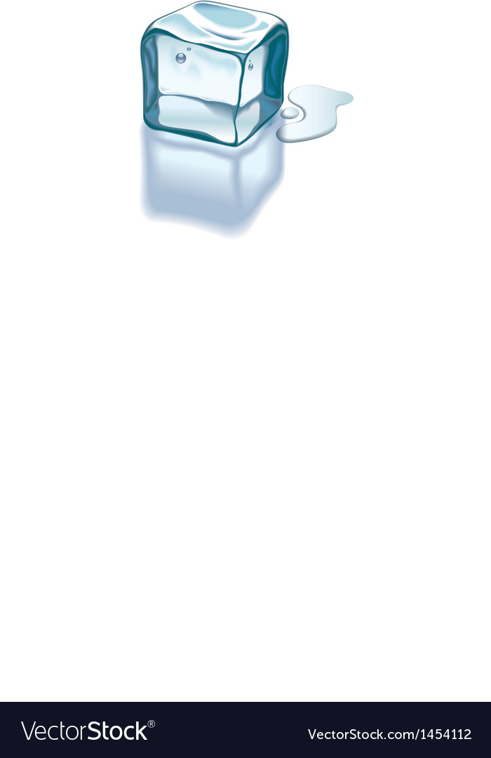 Ice cube melting vector | Price: 1 Credit (USD $1)