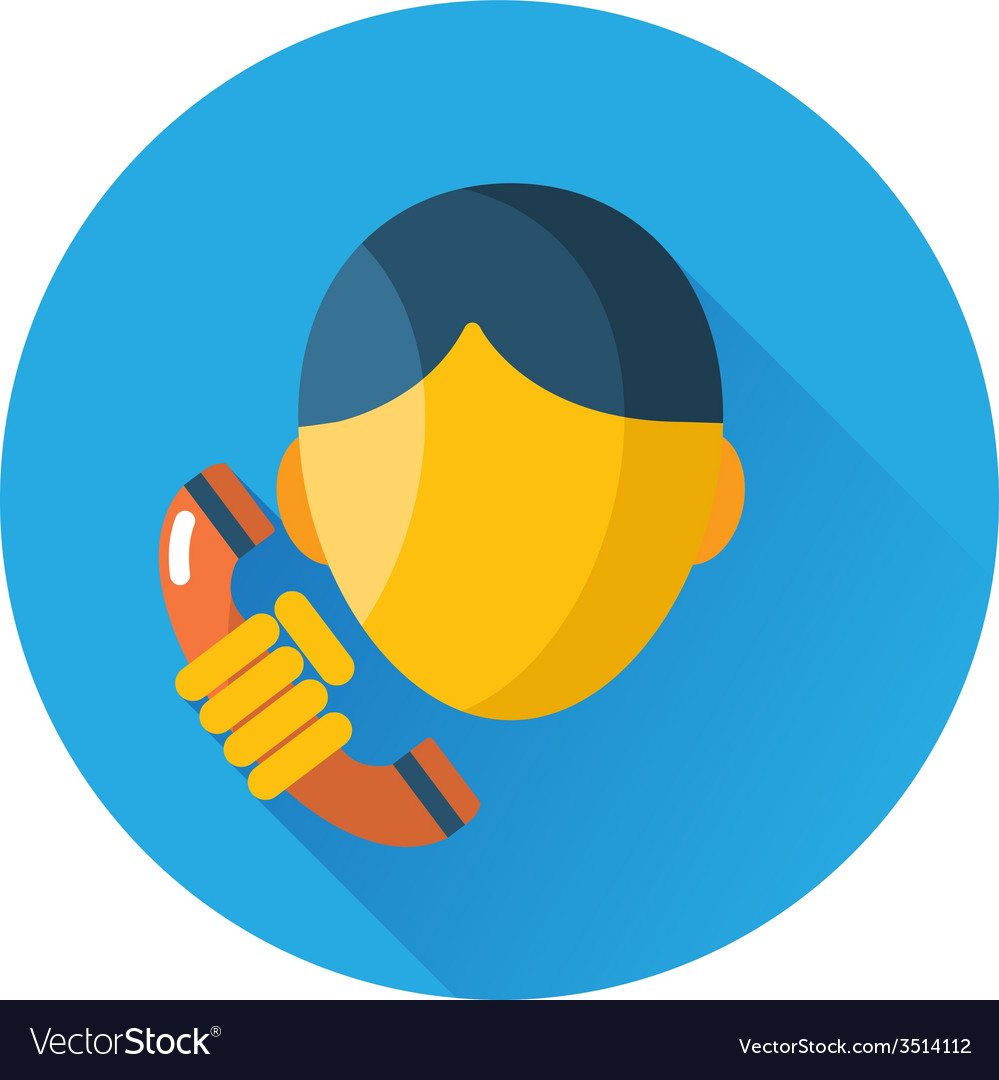 Man talking on retro phone icon vector | Price: 1 Credit (USD $1)