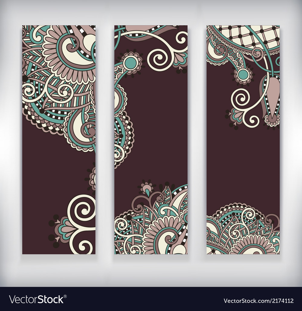 Modern ornamental banners template vector | Price: 1 Credit (USD $1)