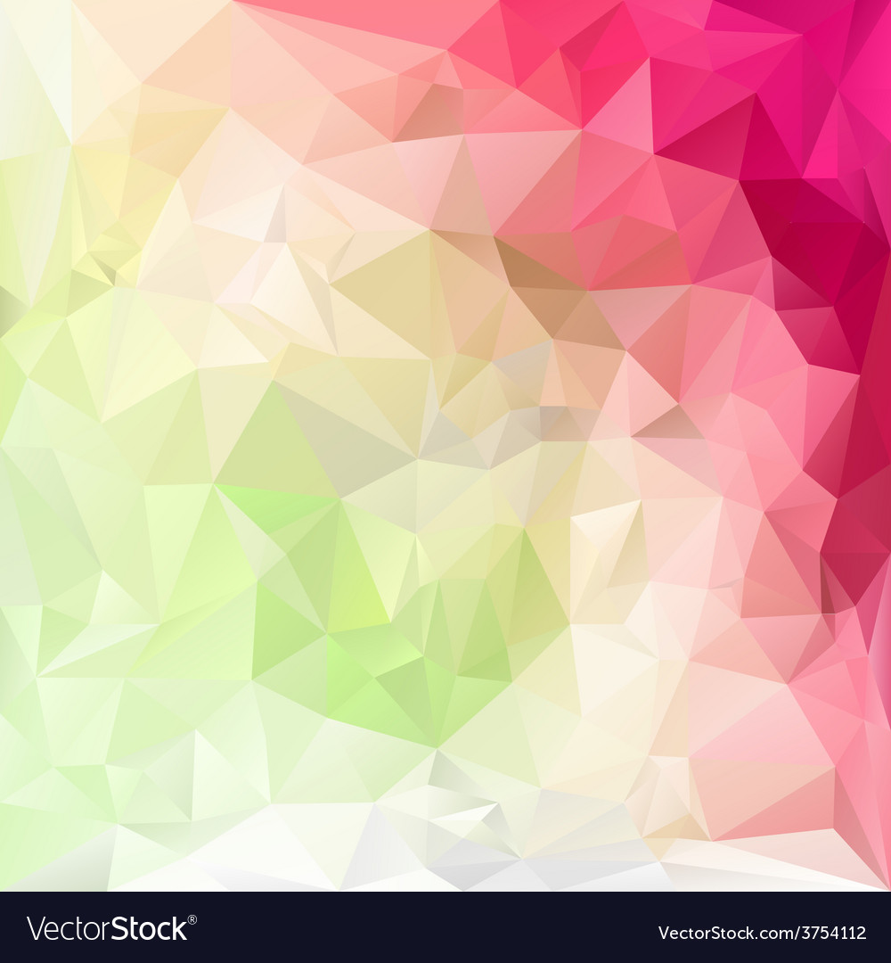 Pastel pink green polygonal triangular pattern vector | Price: 1 Credit (USD $1)