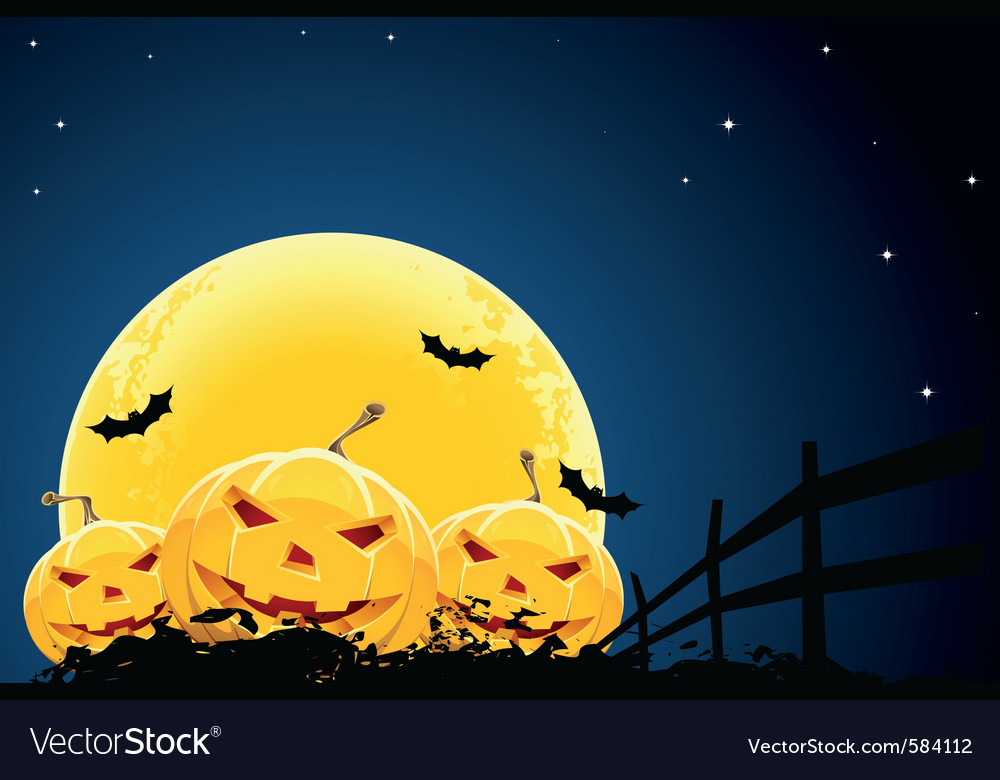 Pumpkin halloween background vector | Price: 3 Credit (USD $3)