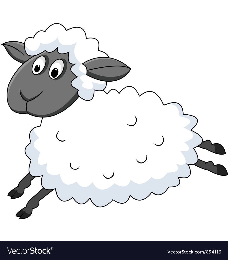 Cute sheep cartoon vector | Price: 3 Credit (USD $3)