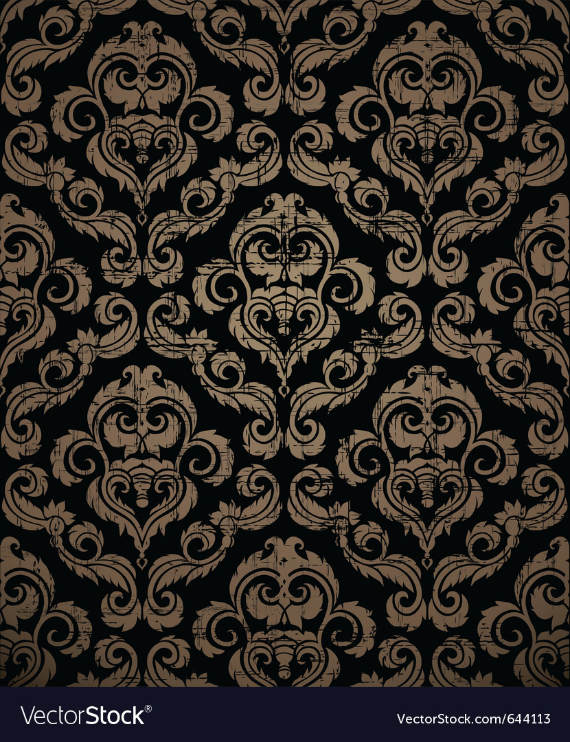 Decorative seamless vintage ornament vector | Price: 1 Credit (USD $1)