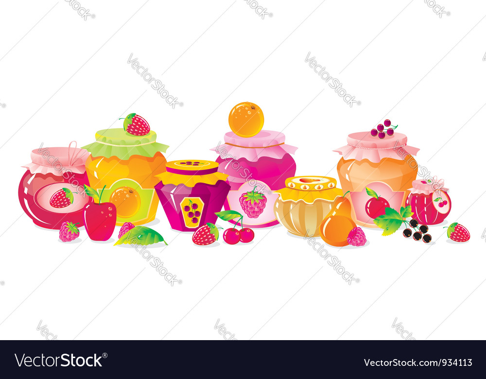 Fruit jams vector | Price: 1 Credit (USD $1)