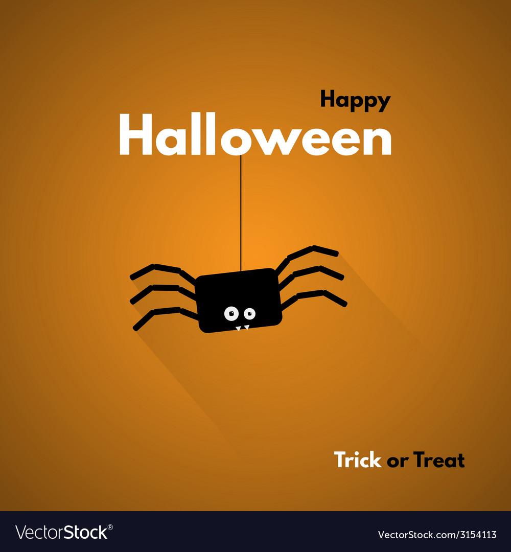 Happy halloween label with spider vector | Price: 1 Credit (USD $1)