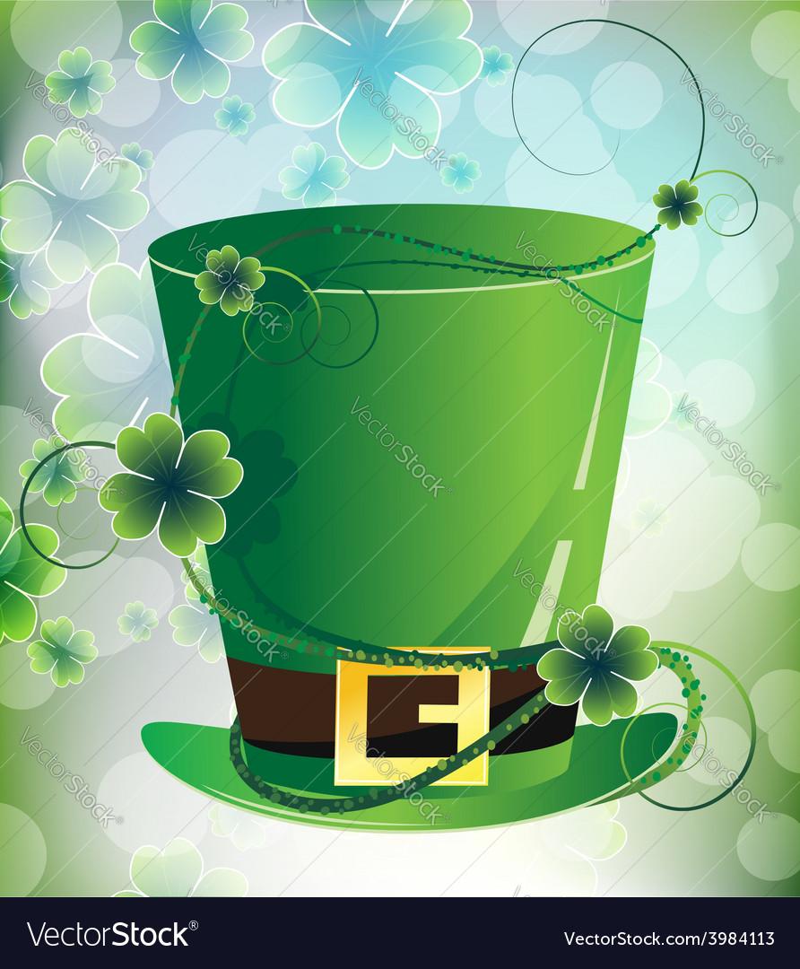 Leprechaun hat on imagination background vector | Price: 1 Credit (USD $1)