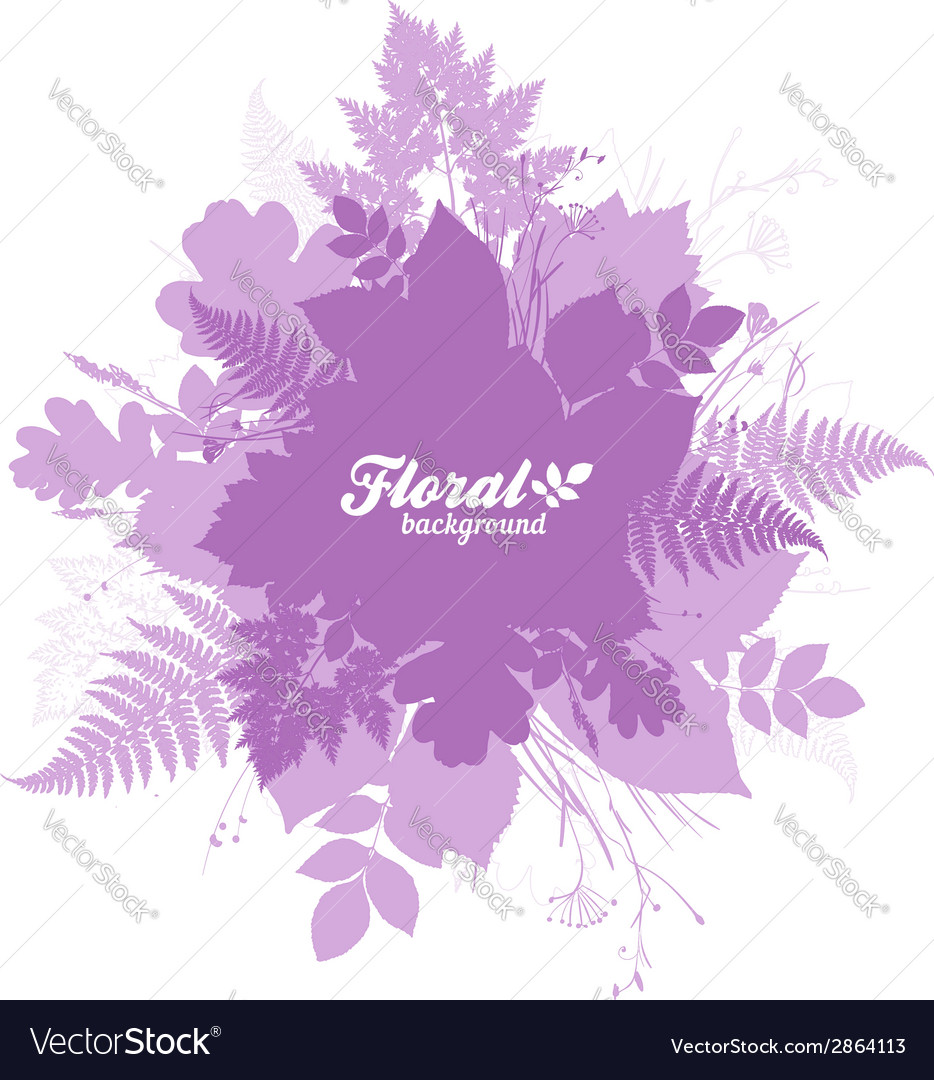 Pink isolated foliage silhouettes trendy banner vector | Price: 1 Credit (USD $1)