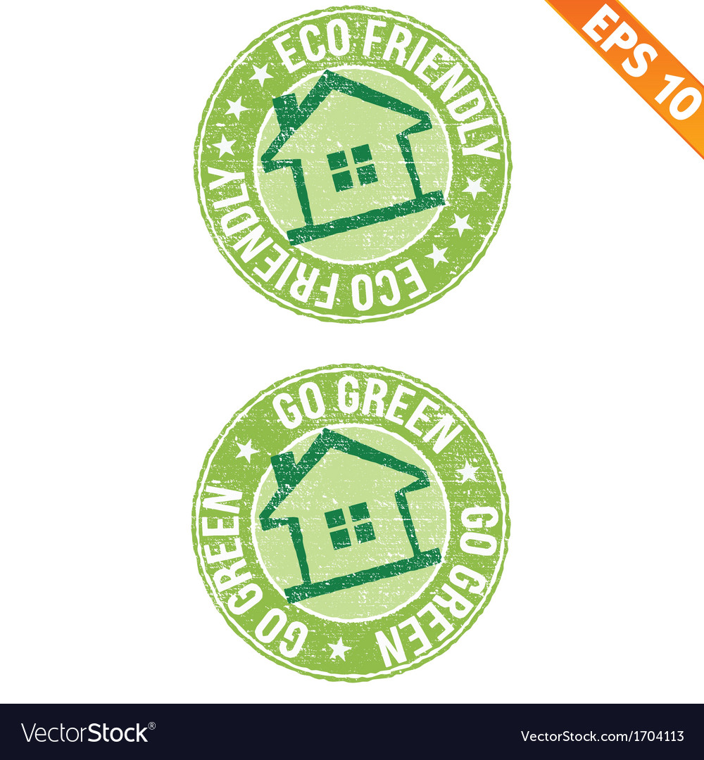 Stamp sticker eco collection - - eps10 vector | Price: 1 Credit (USD $1)