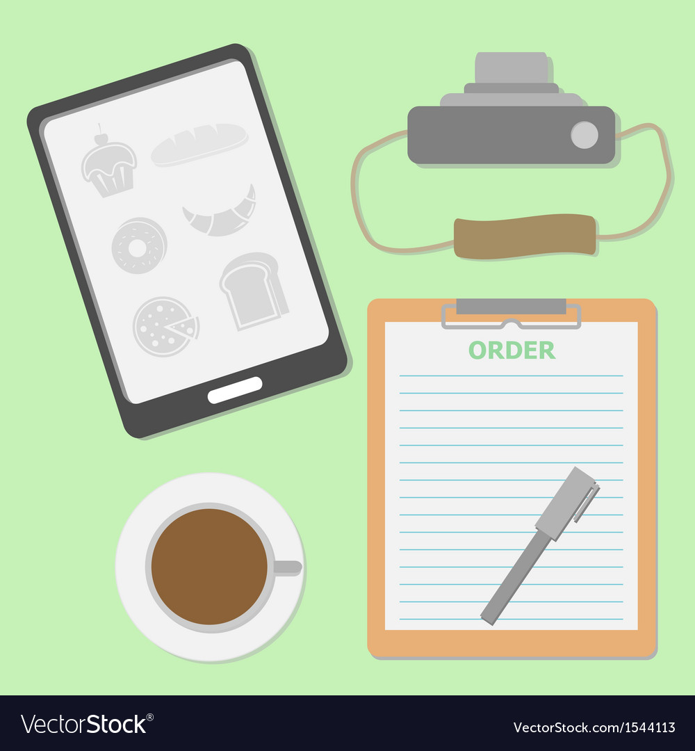 Take the order in coffee shop vector | Price: 1 Credit (USD $1)