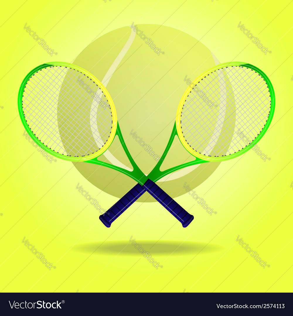 Tennis rackets vector | Price: 1 Credit (USD $1)