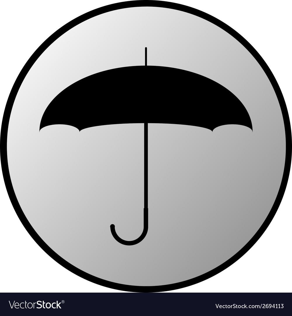 Umbrella button vector | Price: 1 Credit (USD $1)