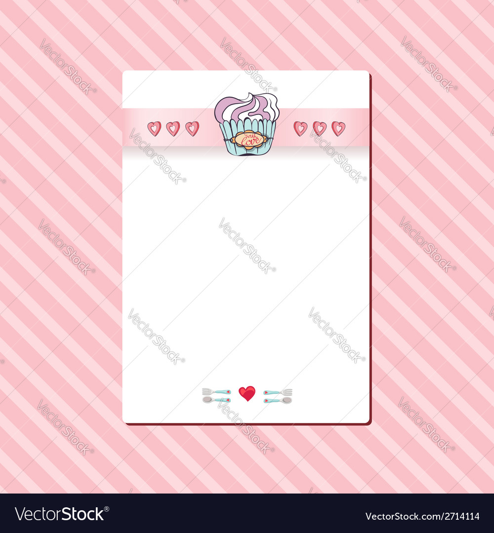 Birthday card with a cupcake vector | Price: 1 Credit (USD $1)
