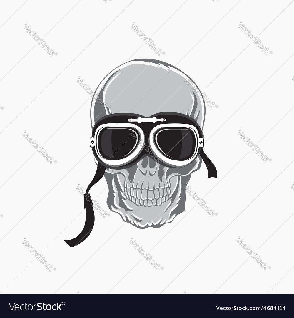Dead biker graphic print motocycle helmet and vector | Price: 1 Credit (USD $1)