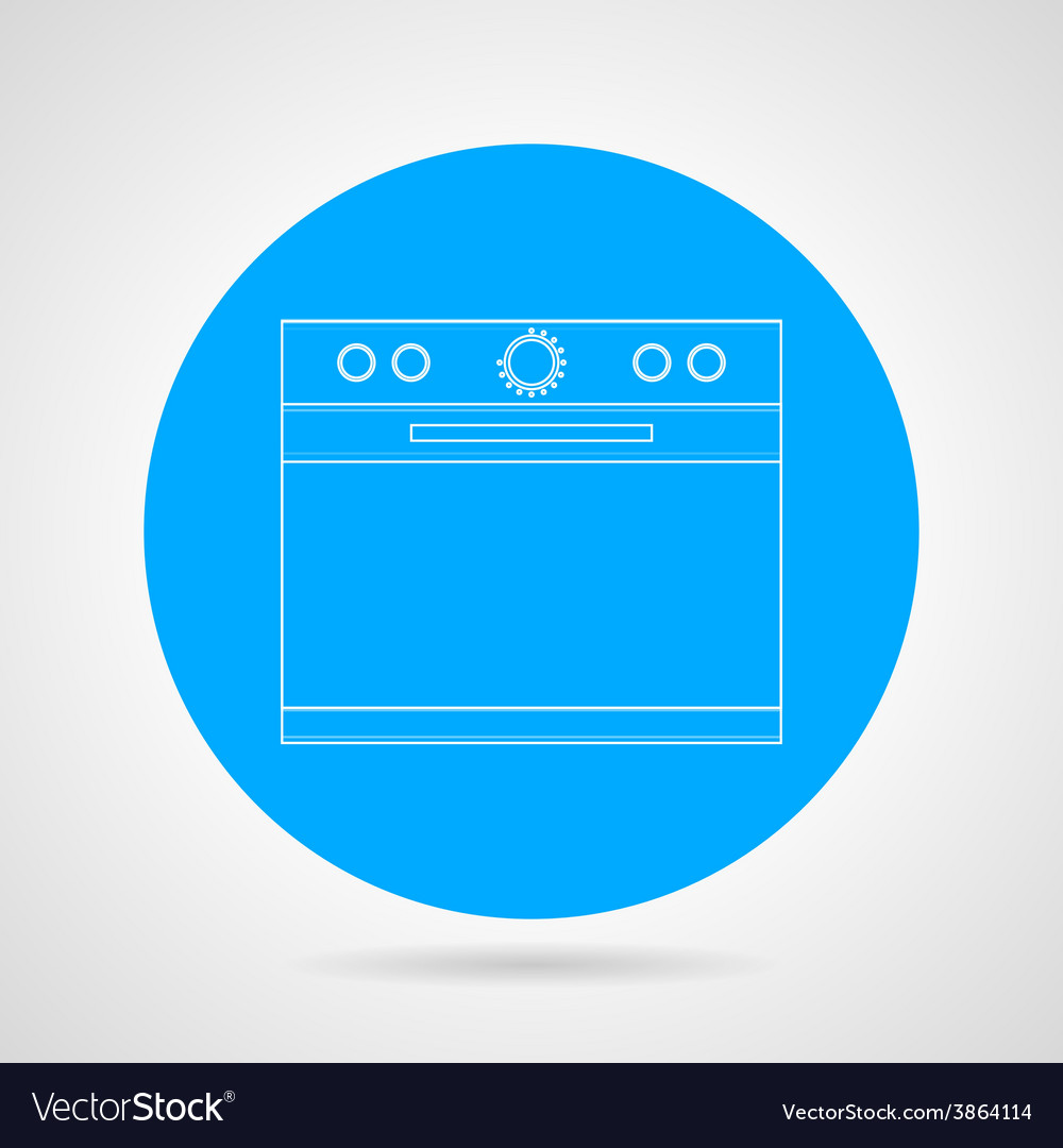 Flat line icon for kitchen stove vector | Price: 1 Credit (USD $1)