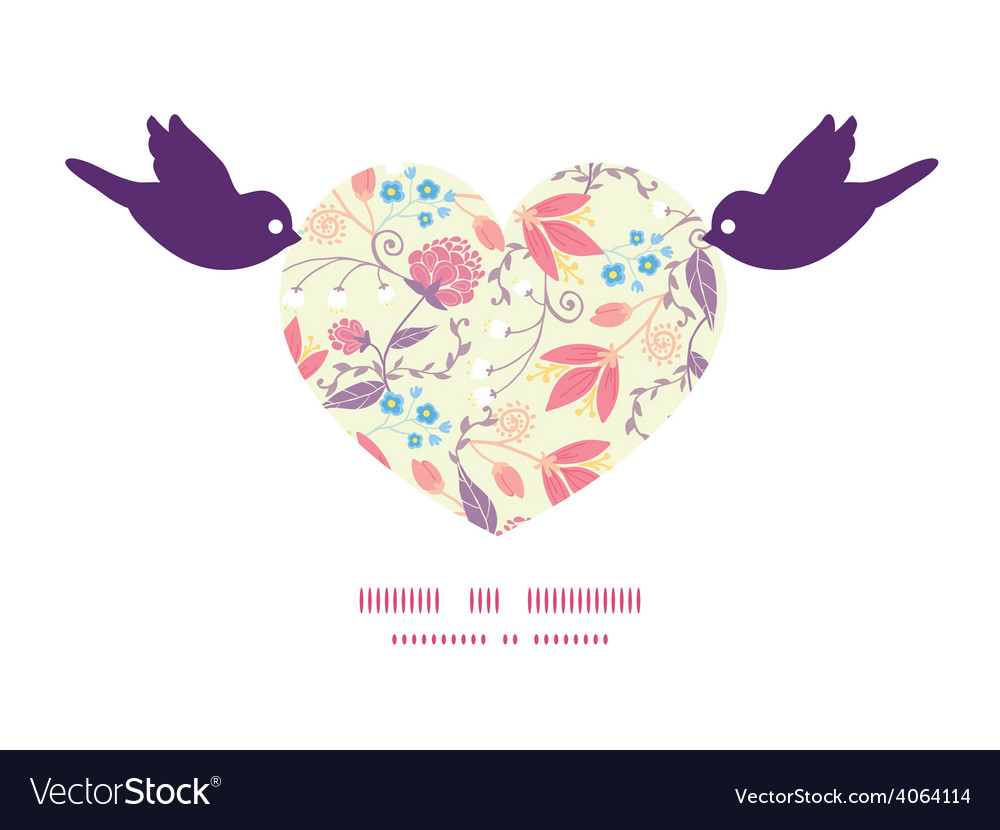 Fresh field flowers and leaves birds vector | Price: 1 Credit (USD $1)