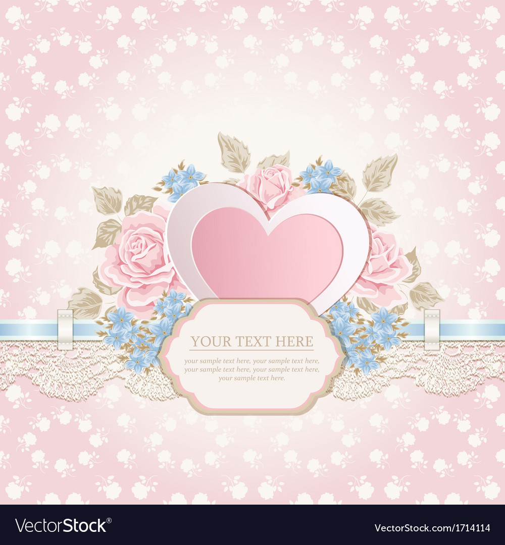 Greeting card with heart shape vector | Price: 1 Credit (USD $1)