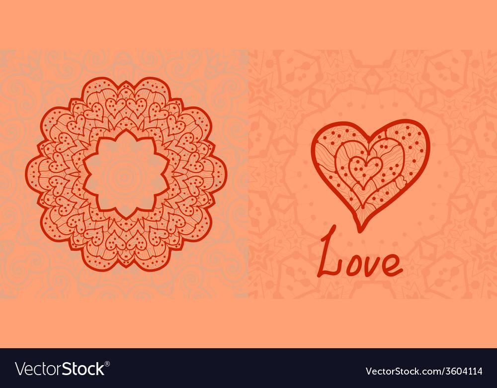 Love card valentine flayer template wedding vector | Price: 1 Credit (USD $1)