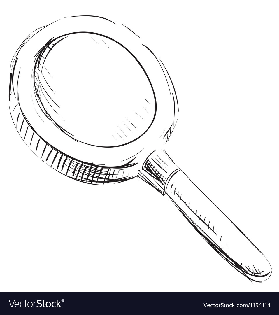 Magnifying glass search find icon vector | Price: 1 Credit (USD $1)