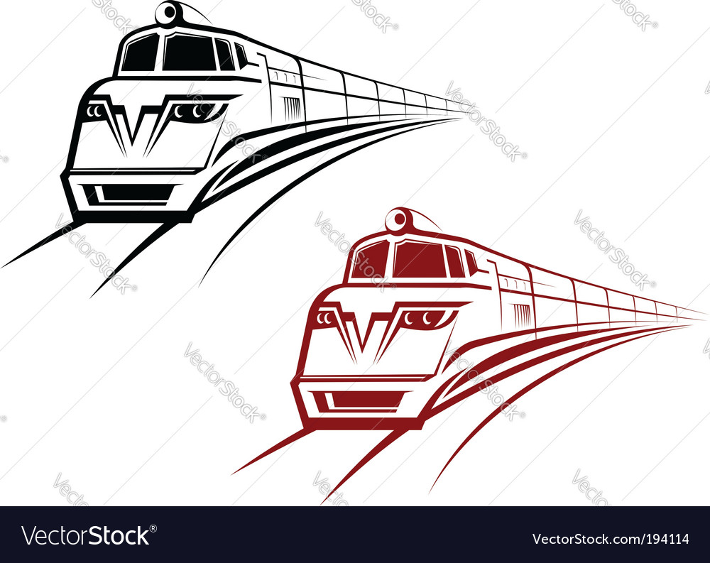 Railroad and subway symbols vector | Price: 1 Credit (USD $1)