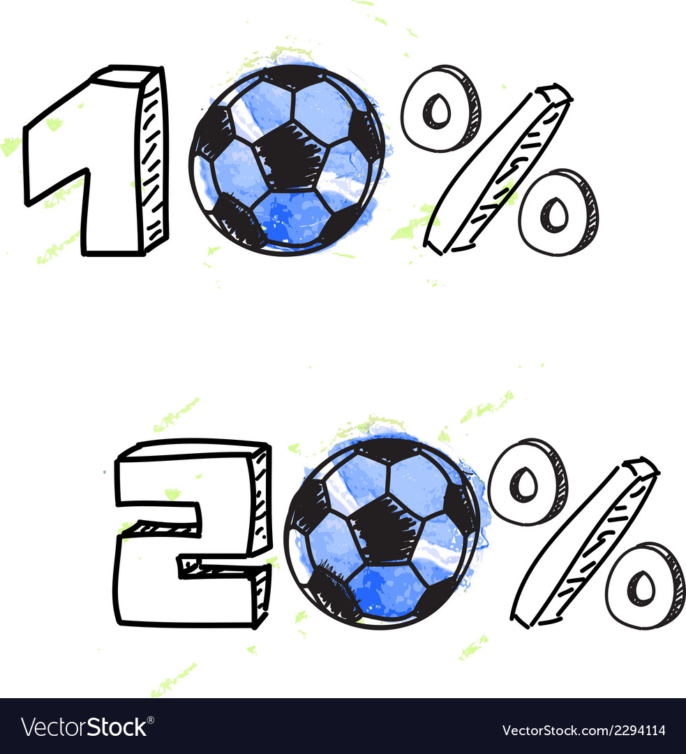 Soccer discount vector | Price: 1 Credit (USD $1)