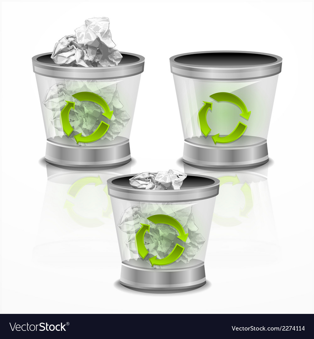 Trash bin vector | Price: 1 Credit (USD $1)