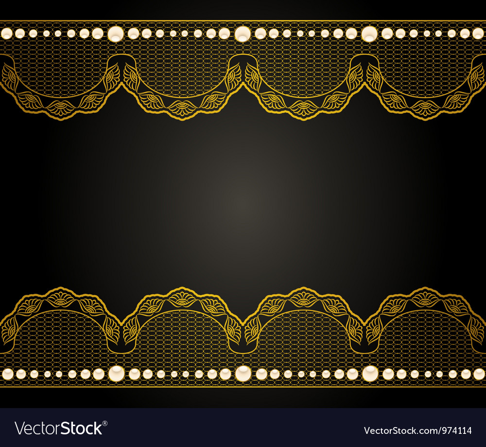 Vintage background with lace ornaments vector | Price: 1 Credit (USD $1)