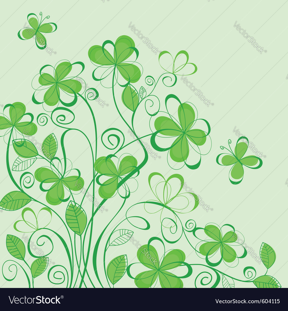 Abstract green spring vector | Price: 1 Credit (USD $1)