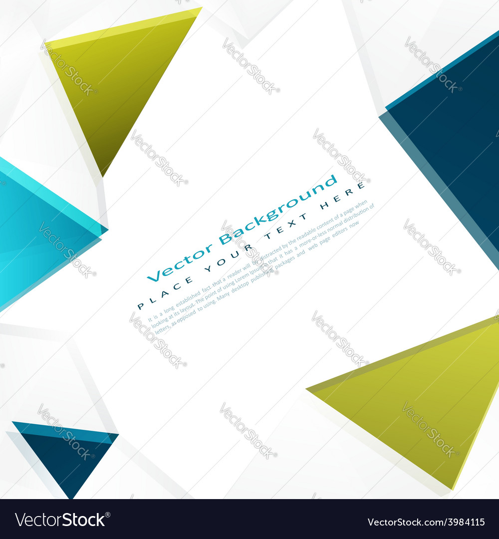 Background with color triangles vector | Price: 1 Credit (USD $1)