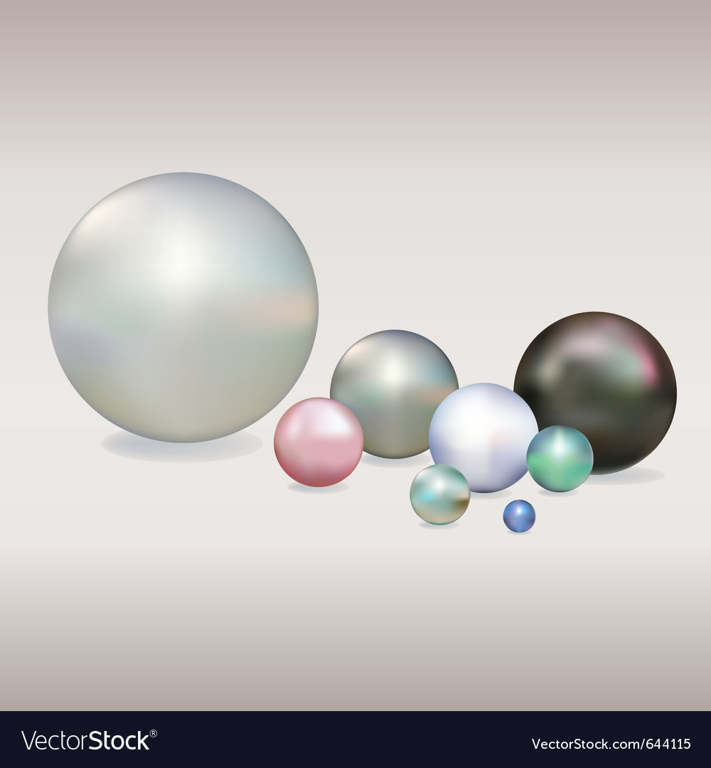 Colored pearls vector | Price: 1 Credit (USD $1)
