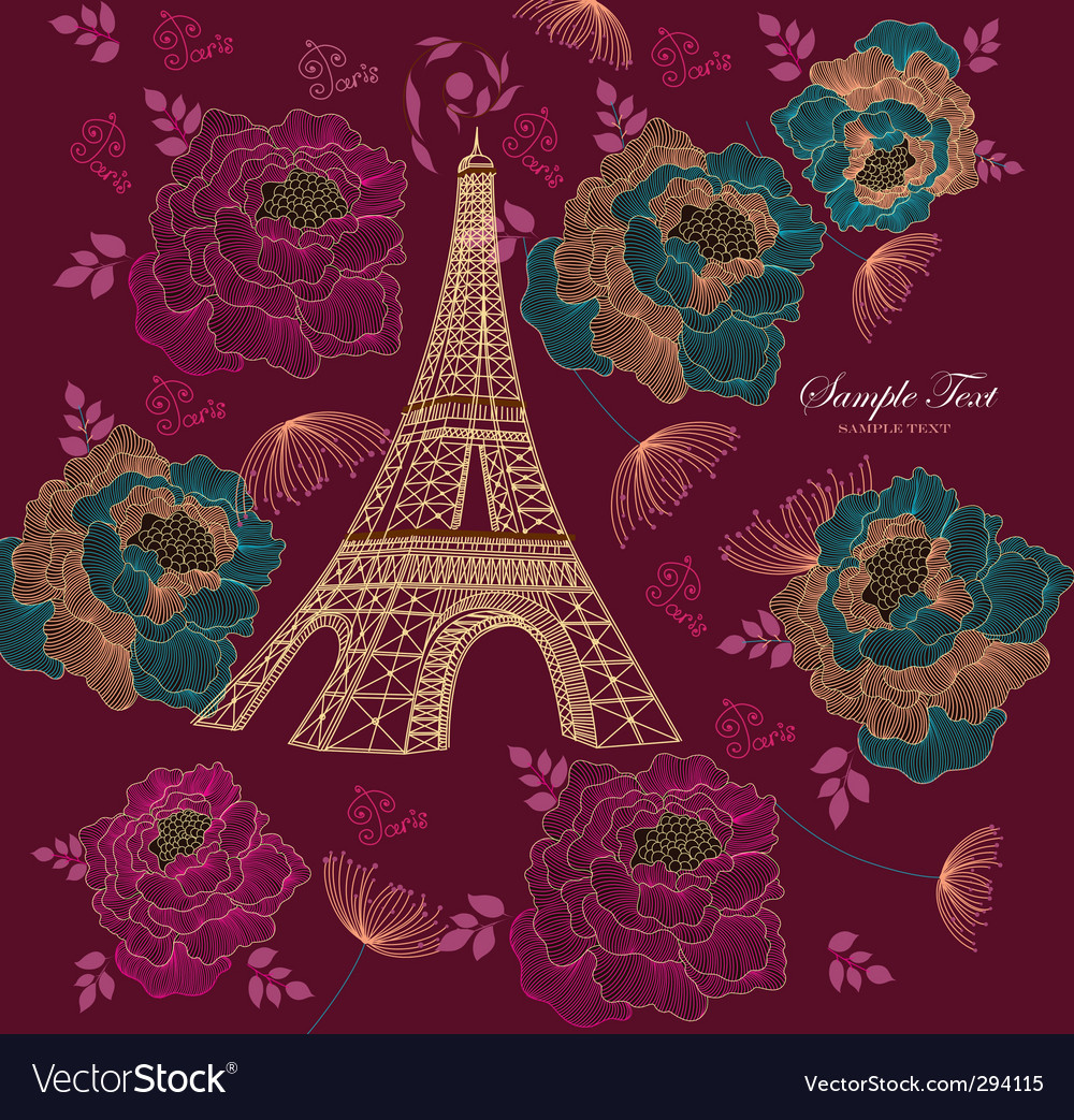 Eiffel tower vector | Price: 3 Credit (USD $3)