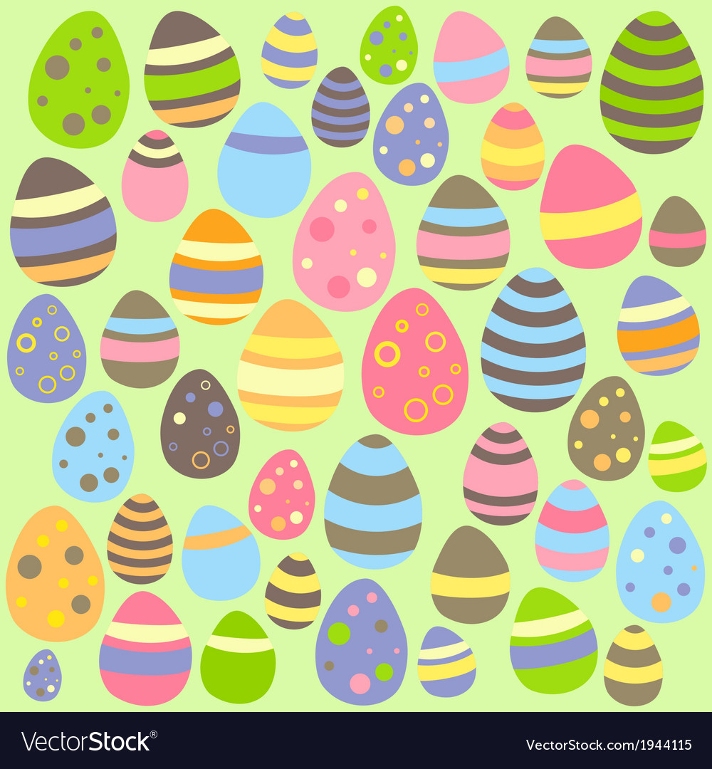 Green easter seamless pattern with eggs vector | Price: 1 Credit (USD $1)