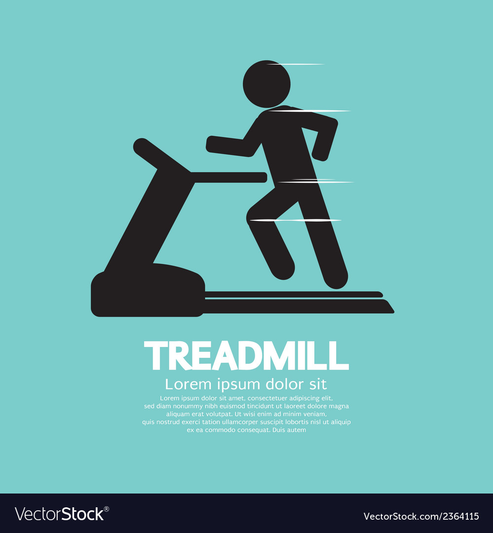 Man running on a treadmill vector | Price: 1 Credit (USD $1)